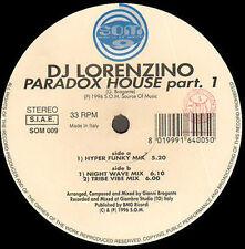 DJ LORENZINO - Paradox House Part. 1 - Som Source Of Music - SOM009 - Italy