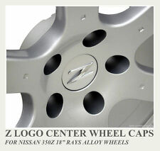 "4x 350Z Z LOGO 18"" RAYS ALLOY WHEEL Z CENTER CAPS  SET TRACK CENTRE"