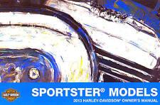 2013 HARLEY-DAVIDSON SPORTSTER MODELS OWNERS MANUAL -XL1200C 110TH ANV-XL883