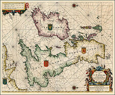 Hendrick Doncker Reproduction Antique Old Map England Scotland Ireland Wales UK