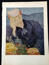 "1950 Vintage Full Color Art Plate /""PORTRAIT ARMAND ROULIN 2/"" VAN GOGH Lithograph"