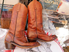 vtg FRYE Brown Leather Cowboy Boots Style 2300 Size 7 D western USA made