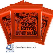 Ernie Ball 2215 Skinny Top Heavy Bottom Electric Guitar Strings 3 Sets