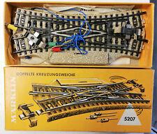 MÄRKLIN aiguillage electromagnetique double jonction croisement ref 5207