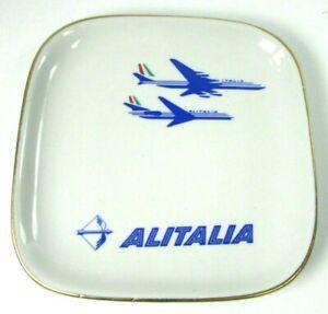 Alitalia Airlines Dessert Dish Mid Century Modern Jet Logo Richard Ginori Italy