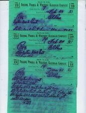 TOLEDO, PEORIA & WESTERN TP&W TRAIN ORDERS  (25)  EL PASO, ILLINOIS  1980-1981.