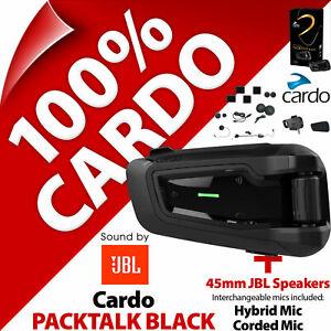 Cardo PACKTALK BLACK JBL 45mm Speakers Bluetooth Motorcycle Helmet Intercom 2020