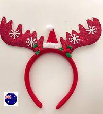 Kid Lady Christmas Xmas Reindeer Deer Long Antler Ear Party Hair Band Headband