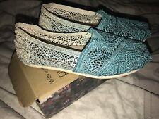 Womens Girls Toms Baltic Dip Dye Crotchet Shoes Size 3