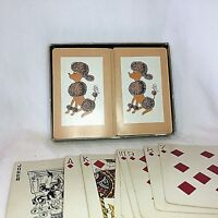 Mid Century Modern Pink Poodle Canasta Playing Cards Blackstone Complete MCM