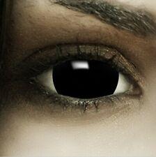 "Mini Sclera Lenses ""Black"" schwarze Kontaktlinsen Crazy Farbige Halloween Linsen"
