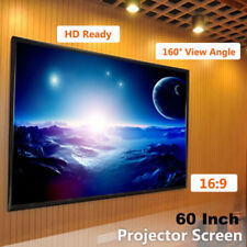 "60"" Electric Motorized Remote Projection Screen HD Movie Projector Matte 16:9"