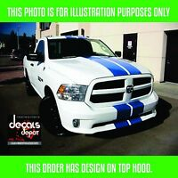 Dodge Ram 1500 Truck MOPAR Racing Stripes Decals Trunk Hood Graphics 3X SET