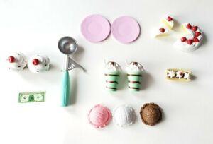 My Life Doll Ice Cream Sundae Milk Shake Set Replacements.  Free Shipping