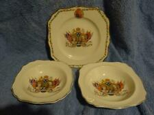 George V Commemorative Bowls/Plates x 3. Silver Jubilee 1935