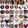 Women Elastic Bow Knot Hair Rope Ring Tie Scrunchie Ponytail Holder Hairband