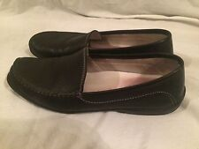 Sioux Women's Black Leather Mocassin Driving Loafer Slip On Casual Shoes 6