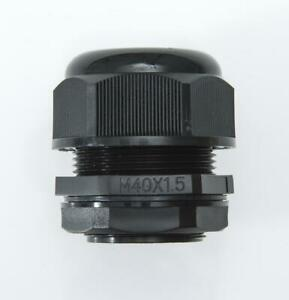 M40 Black Nylon Cable Gland with Locknut & Washer IP68 20-31mm Cable