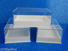 12 Perspex Clear Lid  Specimen Display Boxes Shell Minerals Gems Fossil Geology