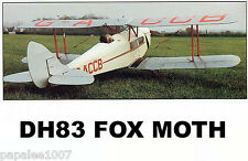 "Model Airplane Plans (RC): DH83 Fox Moth Scale 59½""ws for .40-.50ci 4-channel"