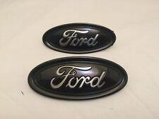 """2014-5-6 Ford Focus custom Black & Chrome emblem set, 4.5"""" & 5.0"""",front & back,"""
