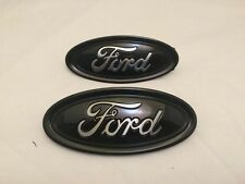 "2014- 2018 Ford Fusion custom Black & Chrome emblem set, 4.5"" & 5.0""front & back"