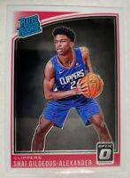 2018-19 Optic Shai Gilgeous-Alexander RC Rated Rookie LA Clippers #162