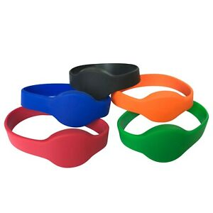 125khz EM4100 RFID Wristband Read only Color silicone waterproof -100pcs