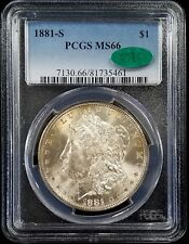 1881 S Morgan Silver Dollar certified MS 66 by PCGS! CAC certified!