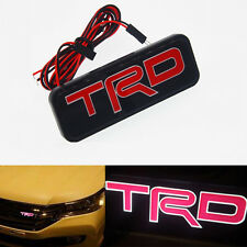TRD LED Red Emblem Car Front Grill Grille Badge For Toyota Camry Corolla Yaris