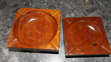 2 Antique Brown Bakelite or Wood Ashtray Armchair Inserts