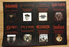 Music Promo Perforated Cards Here's The Metal - Iced Earth, Behemoth, Seeker
