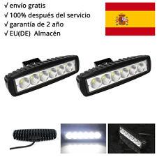 2X 18W Lámpara Trabajo LED Barra de Luz VAN UTE 12V 24V Campo a Través for Jeep