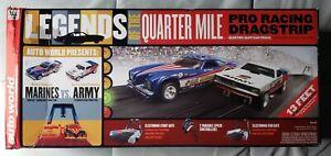 Auto World: Legends of the Quarter Mile 13' Drag Racing Slot Car Set #SRS319/03