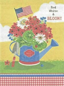 """Hzppyz """"Red White & Bloom"""" Garden Flag Double Sided """"Home Sweet Home""""  (221)"""
