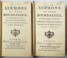 2 Bände Sermons du Pere Bourdaloue de la Compagnie de Jesus Paris1723 Leder/Gold