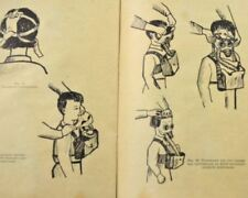Vintage soviet russian gas mask PDF-7 Manual. Instruction book booklet