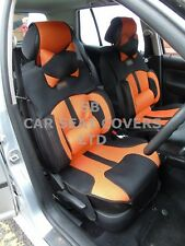 i - TO FIT A TOYOTA HILUX, CAR SEAT COVERS, BO-1 ORANGE RECARO MESH