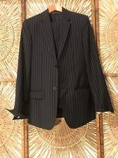 Club Monaco Mens Navt Pinstripe Suit Size 36