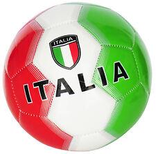 BALLON DE FOOT ITALIE TAILLE 5 COULEUR VERT / BLANC / ROUGE - IDÉE CADEAU