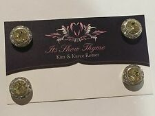 Horse show competitor magnet number pin - Med - Jonquil Swarovski Crystal