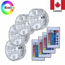 4PCS Swimming Pool Lights RGB LED Bulb Remote Control Underwater Vase Decor Lamp