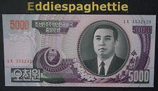Korea North 5000 Won 2006 UNC 7 DIGIT P-46