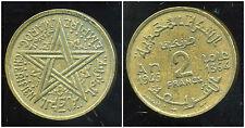 MAROC 2 francs  1945  ( bis )