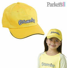 BRAND NEW BROWNIES BASEBALL CAP HAT BROWNIES GIRL GUIDES UNIFORM ONE SIZE