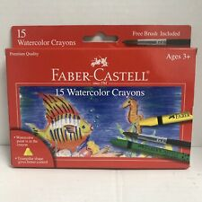 Faber-Castell Watercolor Crayons 15ct. New