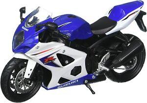 Neuf Ray 1:12 Suzuki Gsxr 1000 Die sous Pression Jouet Modèle Moto Bleu Blanc