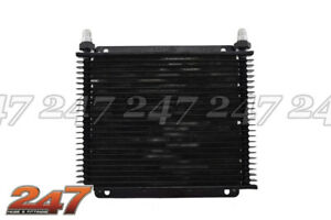 TRANSMISSION COOLER BLACK280X255X19 -6AN XR6 LS1 LS2 1JZ 2JZ TH350 HOLDEN FORD N