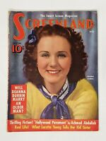 Screenland Magazine July 1939 Deanna Durbin Andy Devine Errol Flynn