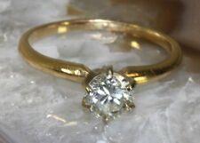 Stunning 14K YELLOW GOLD Solitaire DIAMOND Womens Ring: SIZE 5.5, ~.7 CARAT